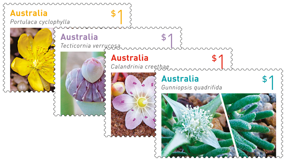 Australian Succulents set of stamps
